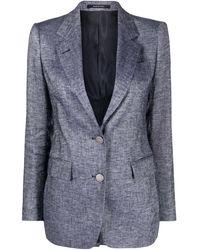 Tagliatore Linen Jacket - Blue