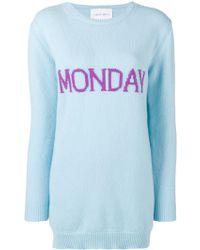 Alberta Ferretti - Mini Monday Blue Dress - Lyst