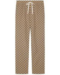 Gucci GG Canvas Pants - Natural
