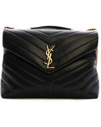 Saint Laurent Loulou Medium Bag Black