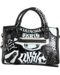 Balenciaga - Borsa Classic City Mini graffiti - Lyst