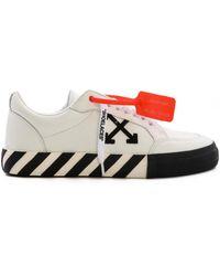 Off-White c/o Virgil Abloh Logo-appliquéd Full-grain Leather Trainers - White