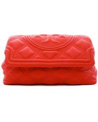 Tory Burch Fleming Soft Clutch - Red