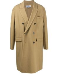 Loewe Double-breasted Coat - Natural