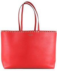 Valentino Garavani - Rockstud Shopping Bag Red - Lyst