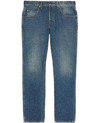 Gucci Skinny Jeans Vintage Effec - Blue