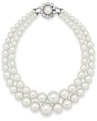 Alessandra Rich Large Pearl Necklac - White