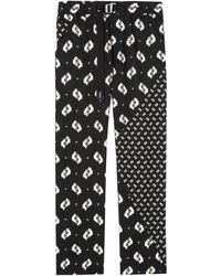 KENZO Ikat Straight-cut Pants - Black
