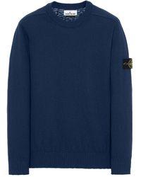 Stone Island Cotton Sweater Light - Blue