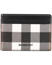 Burberry Portacarte e-canvas motivo tar - Neutro