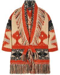 Alanui Cachemire Jacket With Fringes - Multicolour