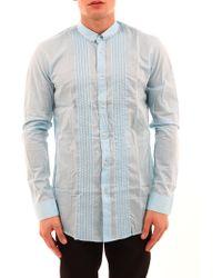 Balmain Blue Shirt With Small Collar