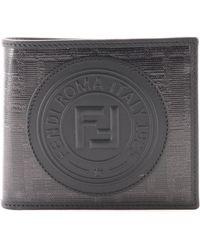 Fendi Portafogli Bi-fold FF Nero
