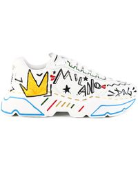Dolce & Gabbana Daymaster Trainer Hand Painted - White