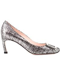 Roger Vivier Trompette Court Shoes - Metallic