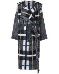Stella McCartney - Hooded Checked Wool-blend Coat - Lyst