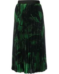 Off-White c/o Virgil Abloh Rose Print Pleated Skirt - Green