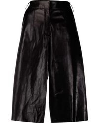 Arma Leather Trousers - Black