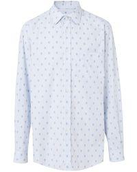 Burberry Fil Coupé Monogram Shirt And Tie Twinset - Blue