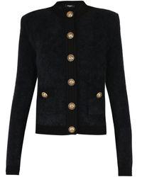 Balmain Cardigan With Buttons - Black