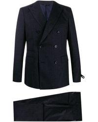 Tonello Gray Wool Suit - Blue