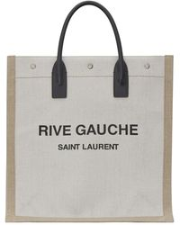 Saint Laurent Rive Gauche Shopping Bag - Natural