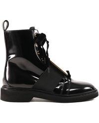 Roger Vivier Viv 'rangers Metal Buckle Ankle Boot - Black