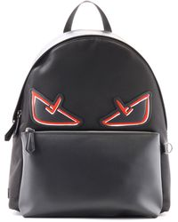 76a84344443d Fendi - Black And Red Bag Bugs Backpack - Lyst