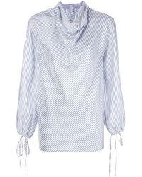 Loewe Striped Silk Shirt - White