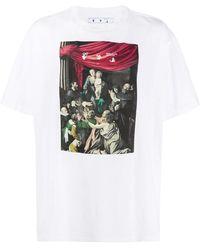 Off-White c/o Virgil Abloh T-shirt Caravaggio - Bianco