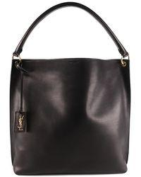 Saint Laurent Hobo Tag Bag Saddle Leather - Black