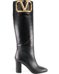 Valentino Garavani Valentino Garavani Supervee Calf Boot - Black