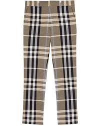 Burberry Tartan Tailored Pants - Natural