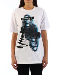 DKNY T-Shirt con Stampa - Bianco