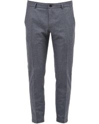 Department 5 Fleece Slim-fit Pants - Gray