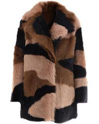 Blancha Reversible Shearling Jacket - Brown