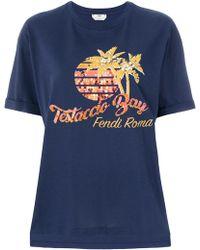 Fendi Testaccio Bay T-shirt Blue