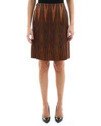 Celine Wood Skirt - Brown