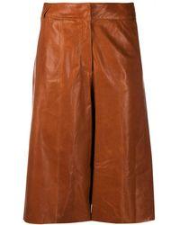 Arma Leather Trousers Ta - Brown