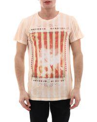 Balmain T-Shirt con Stampa Arancio - Arancione
