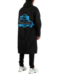 Valentino Raincoat Undercover Ufo - Black