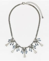 Le Chateau - Firepolish Gem Collarbone Necklace - Lyst