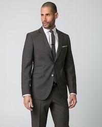 Le Chateau - Tonal Wool Piqué Slim Fit Blazer - Lyst