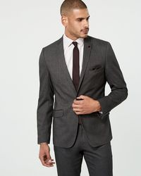 Le Chateau - Brushed Tweed Contemporary Fit Blazer - Lyst