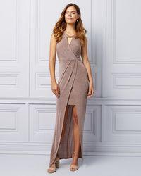 30027d20 Le Chateau - Sparkle Knit Halter Gown - Lyst