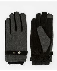 Le Chateau - Textured Suede Touchscreen Gloves - Lyst