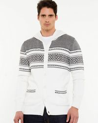 Le Chateau - Cotton Hooded Cardigan - Lyst
