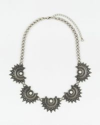 Le Chateau - Metal Collarbone Necklace - Lyst