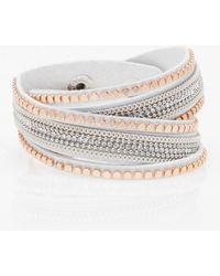 Le Chateau - Gem Wrap Bracelet - Lyst
