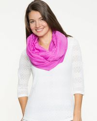 Le Chateau - Lightweight Voile Infinity Scarf - Lyst